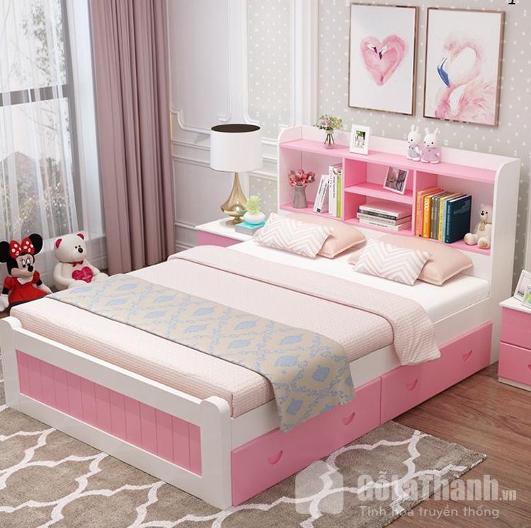 thiết kế hiện đại có giá sách đầu giường