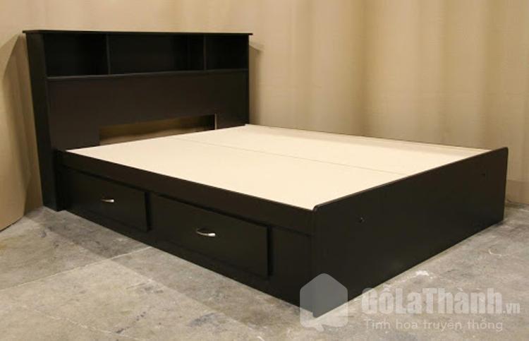 giường ngủ nhựa 1m8 có ngăn kéo màu đen