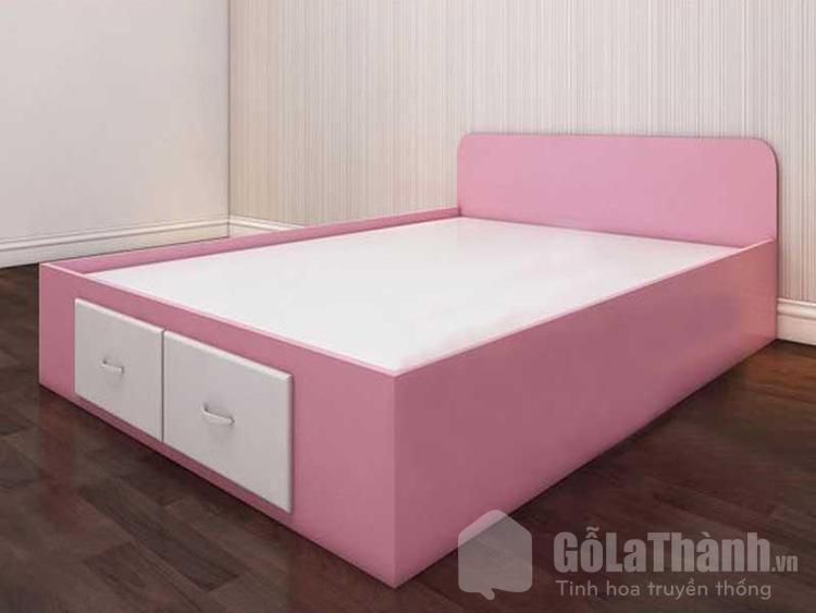 giường nhựa rộng màu hồng