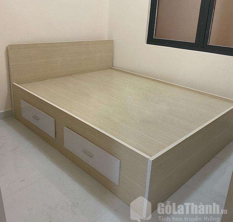 giường nhựa giả gỗ