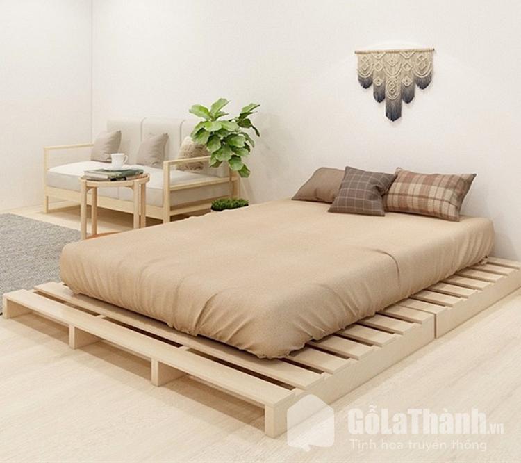 giường pallet 1m8 bằng gỗ
