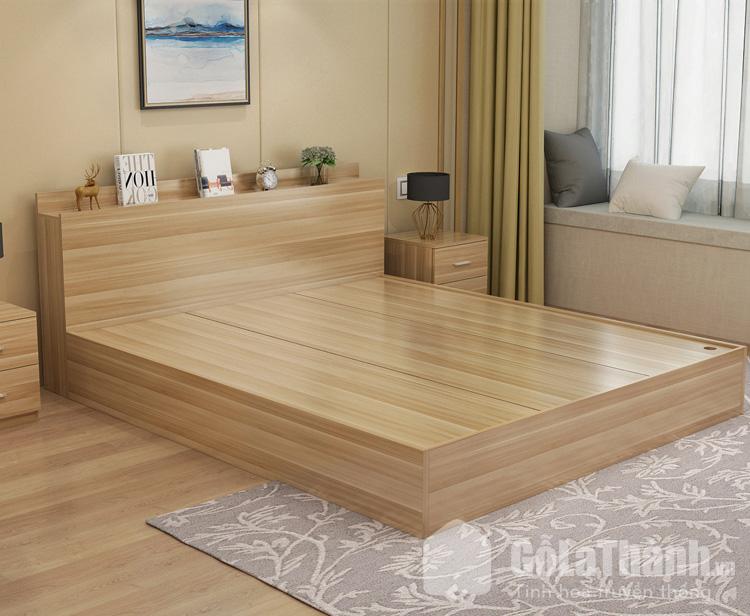 gường ngủ queen size khối hộp gỗ công nghiệp