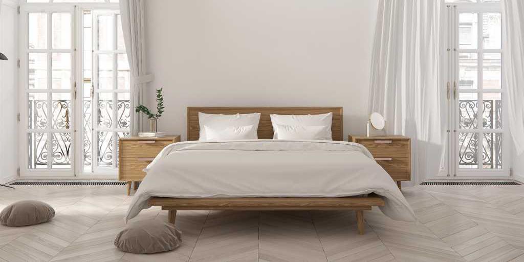 Mẫu giường queen size cực đẹp dành cho phòng ngủ đôi