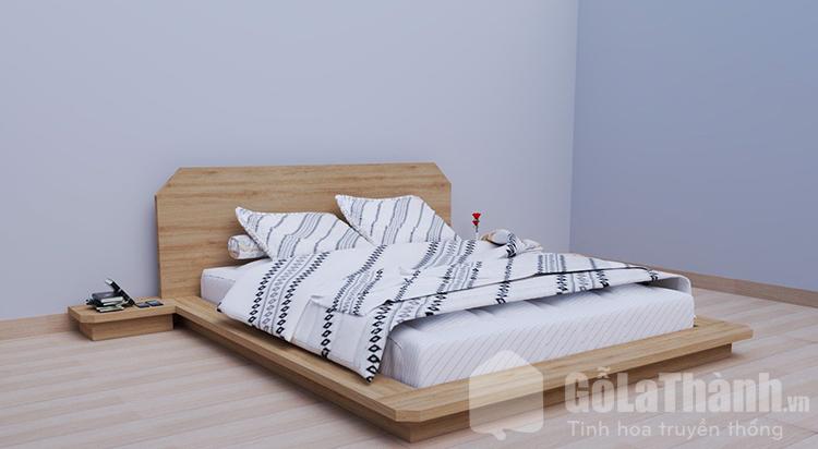 giường ngủ dạng phản bằng gỗ công nghiệp