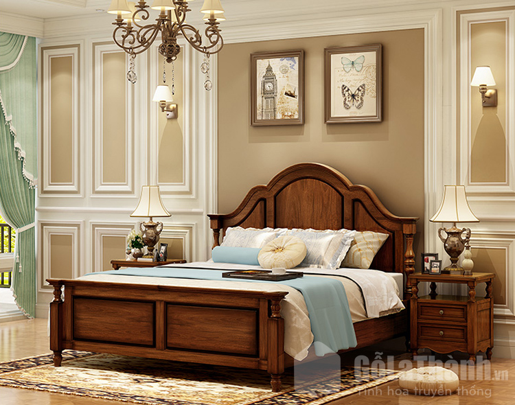 giường sang trọng gỗ tự nhiên