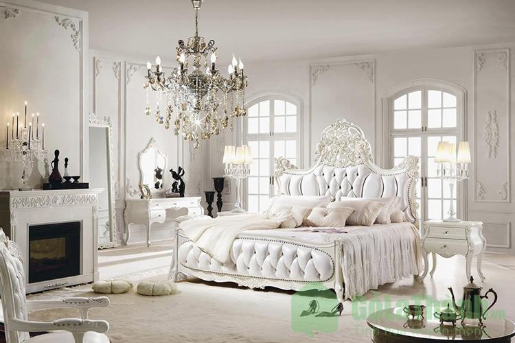 giường ngủ sang trọng cổ điển