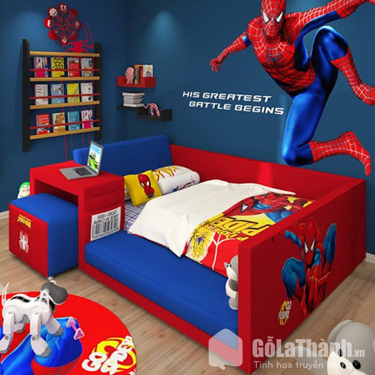 giường siêu nhân đẹp cho bé