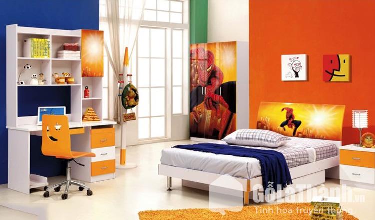 giường siêu nhân gỗ tự nhiên