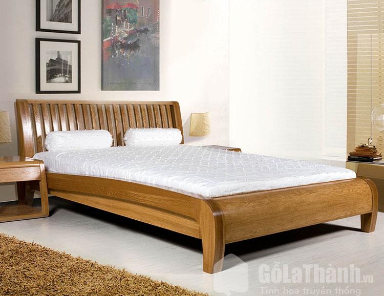 giường tân cổ điển gỗ sồi