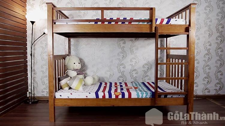 Giường tầng gỗ phù hợp với nhiều không gian khác nhau