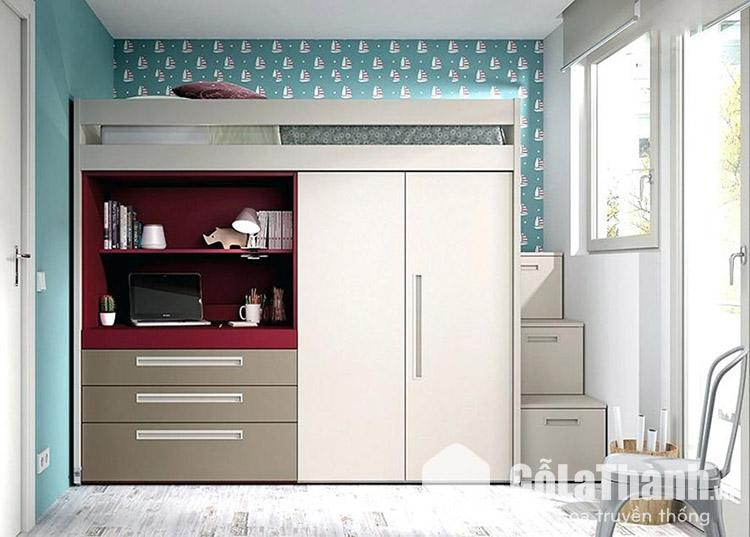 Giường thông minh kết hợp tủ quần áo