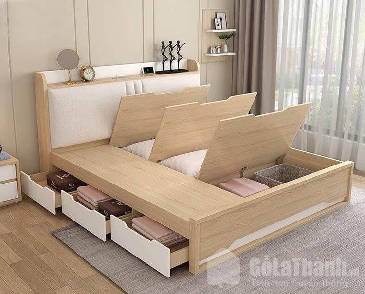 giường gỗ hộp