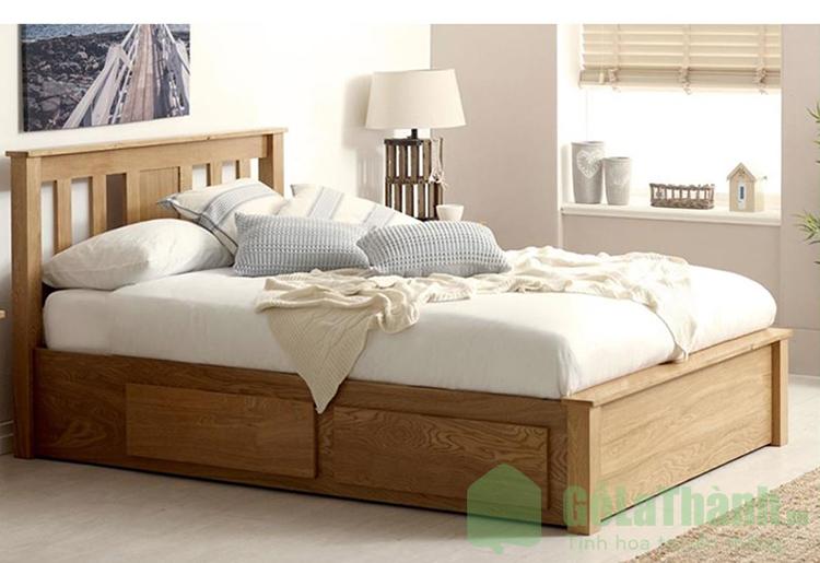 giường hộp bằng gỗ