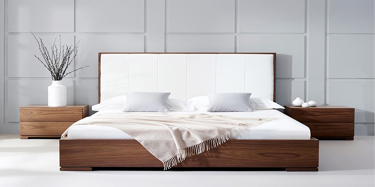 Một số mẫu giường gỗ hộp dành cho phòng ngủ phong cách tối giản