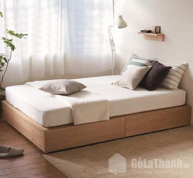 giường gỗ hộp đơn
