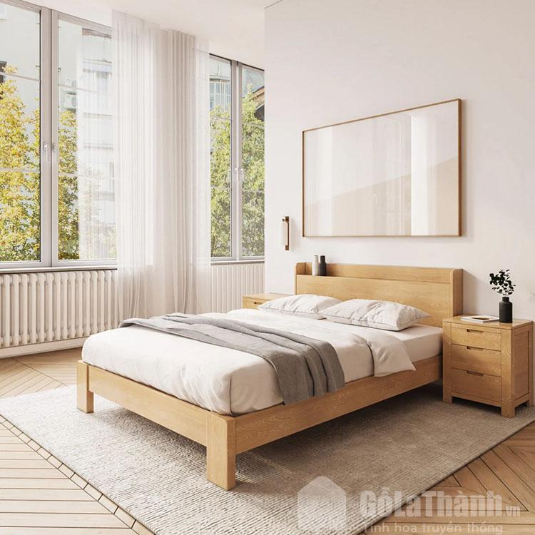 giường gỗ sồi 1m6