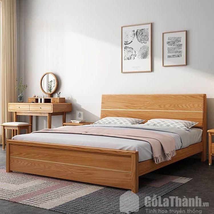 giường gỗ sồi 2mx2m