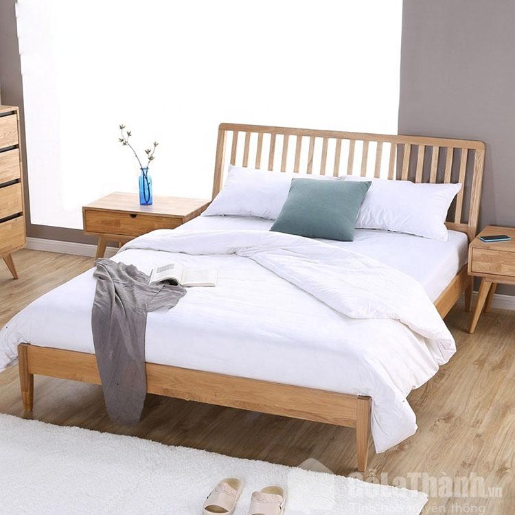 giường gỗ sồi hiện đại