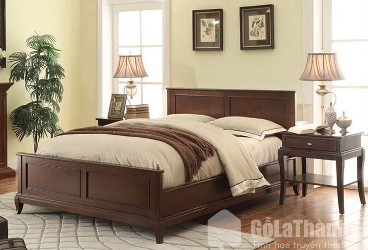 giường gỗ xoan đào 1m6