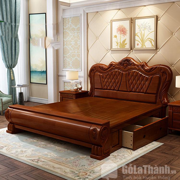 giường gỗ xoan đào 2mx2m2