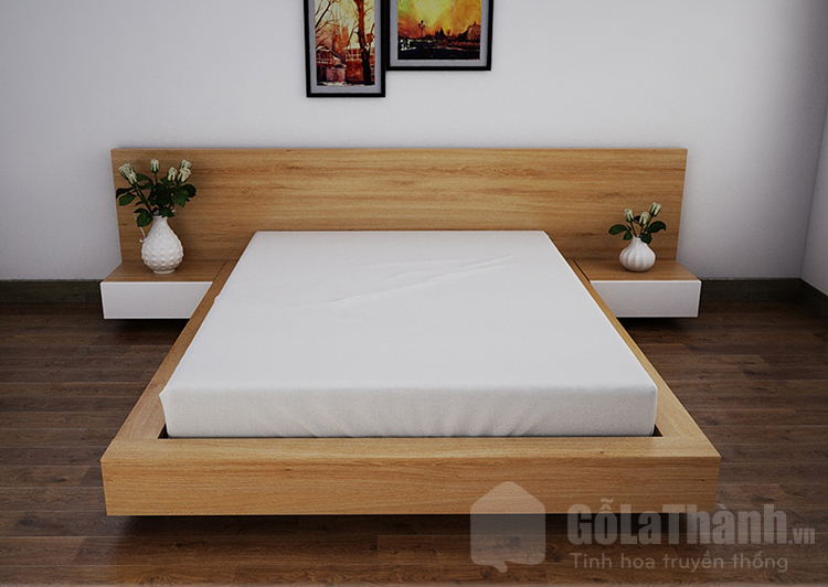 giường ngủ kiểu Nhật gỗ công nghiệp