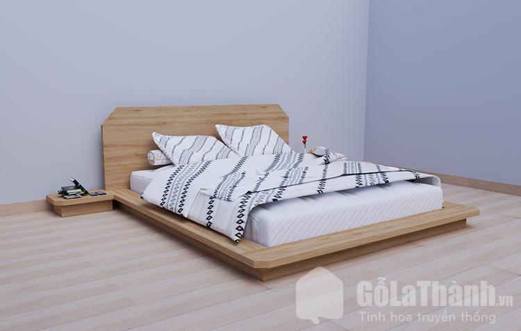 giường ngủ kiểu Nhật bằng gỗ công nghiệp