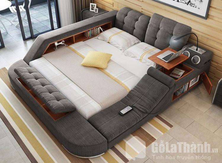 giường tatami bọc nỉ