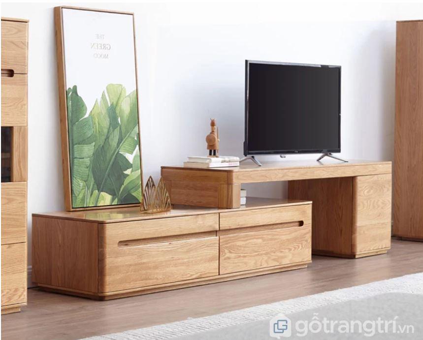 Lý do nên có một kệ tivi gỗ tự nhiên trong phòng khách