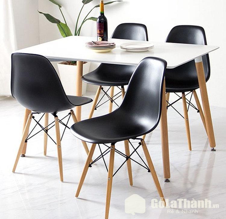 bàn ăn giá rẻ Hà Nội hiện đại ghế nhựa cao cấp