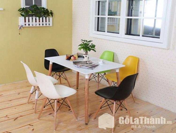 bành ăn hình chữ nhật 6 ghế nhựa cao cấp nhiều màu