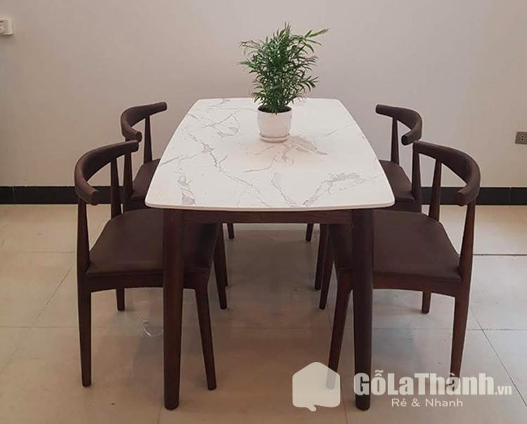 thiết kế mặt đá kết hợp gỗ