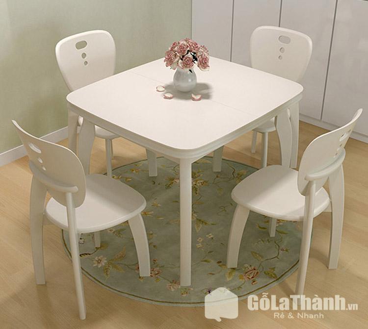 thiết kế hình vuông 4 ghế màu trắng
