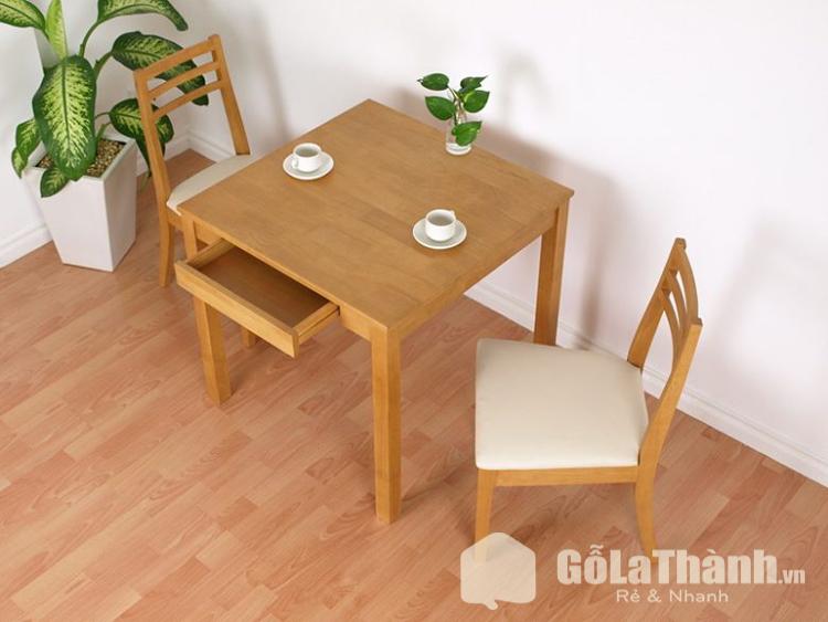 bàn ăn gỗ hình vuông có ngăn kéo
