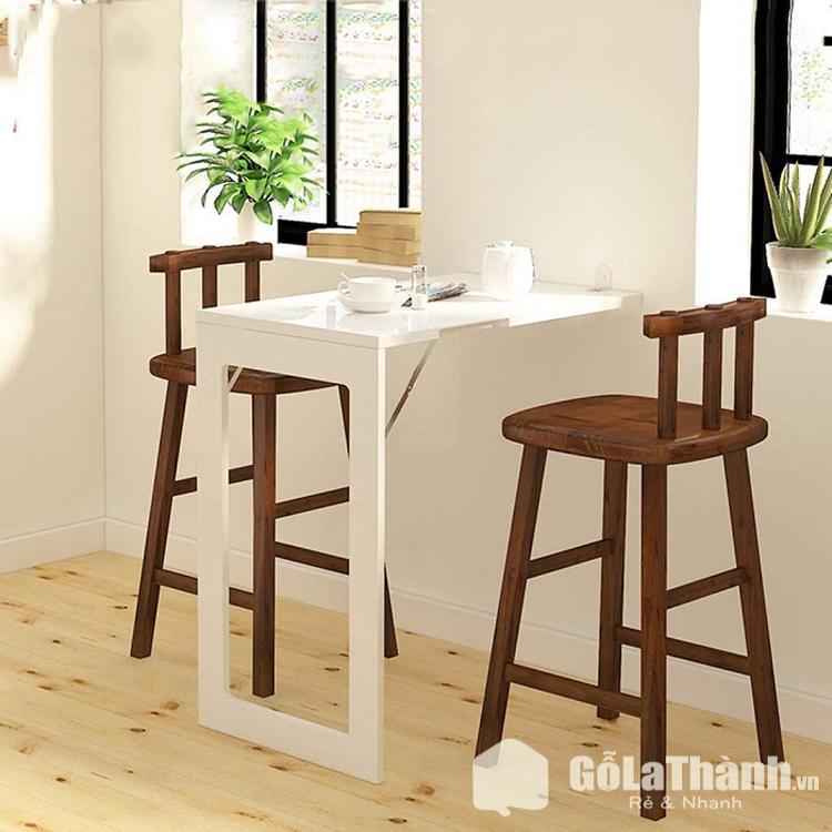 bàn nhỏ gắng tường màu trắng hình chữ nhật
