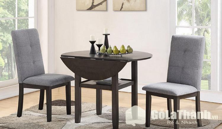 bàn ăn nhỏ gọn giá rẻ hình tròn gấp gọn một cạnh