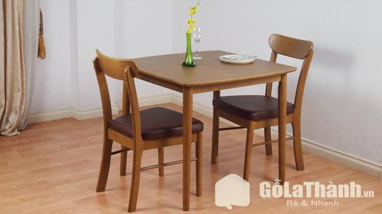 bàn ăn hình vuông 2 ghế bằng gỗ