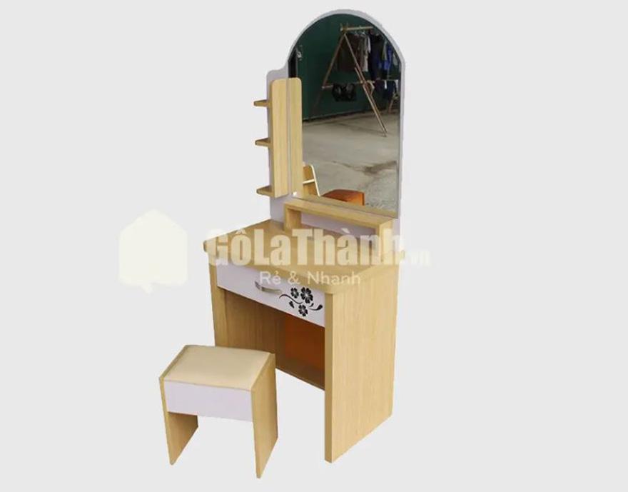 bàn trang điểm gỗ công nghiệp thiết kế đơn giản dễ vệ sinh