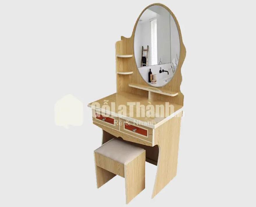 bàn trang điểm từ gỗ công nghiệp thiết kế đơn giản giúp dễ vệ sinh