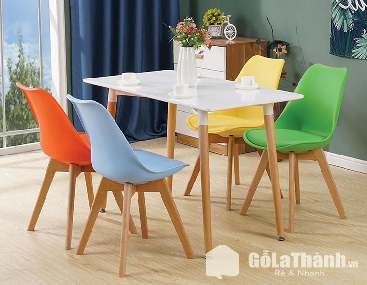 bộ bàn ăn 4 ghế gái rẻ bàn màu trắng ghê nhiều màu