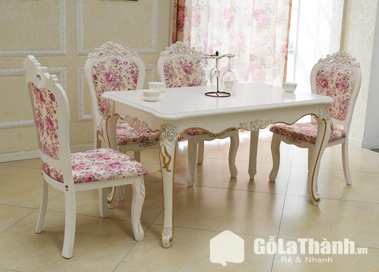 bộ bàn ăn hoa văn cổ điển