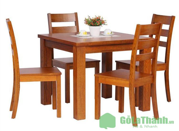 bộ bàn ăn 4 ghế giá rẻ gỗ tự nhiên