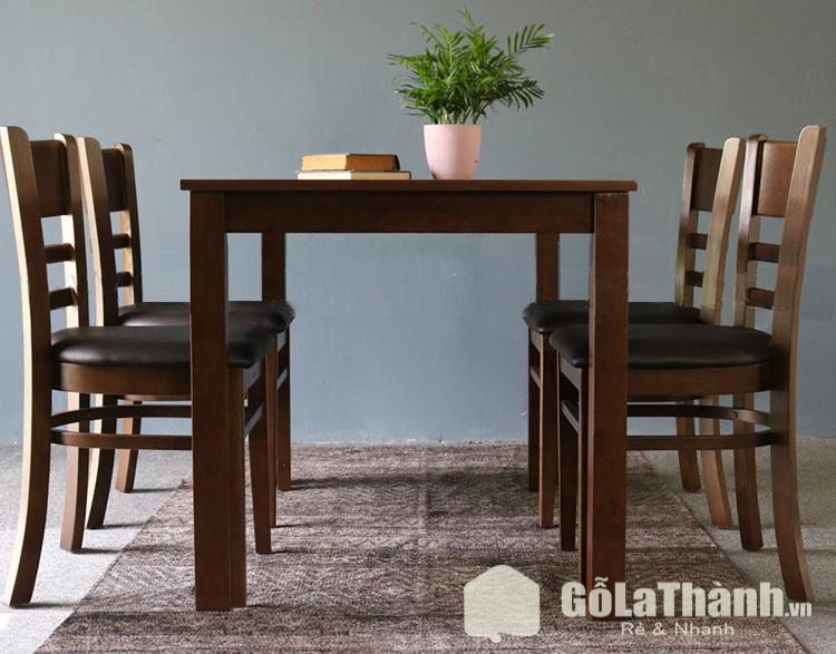 bàn ăn gỗ nâu đậm