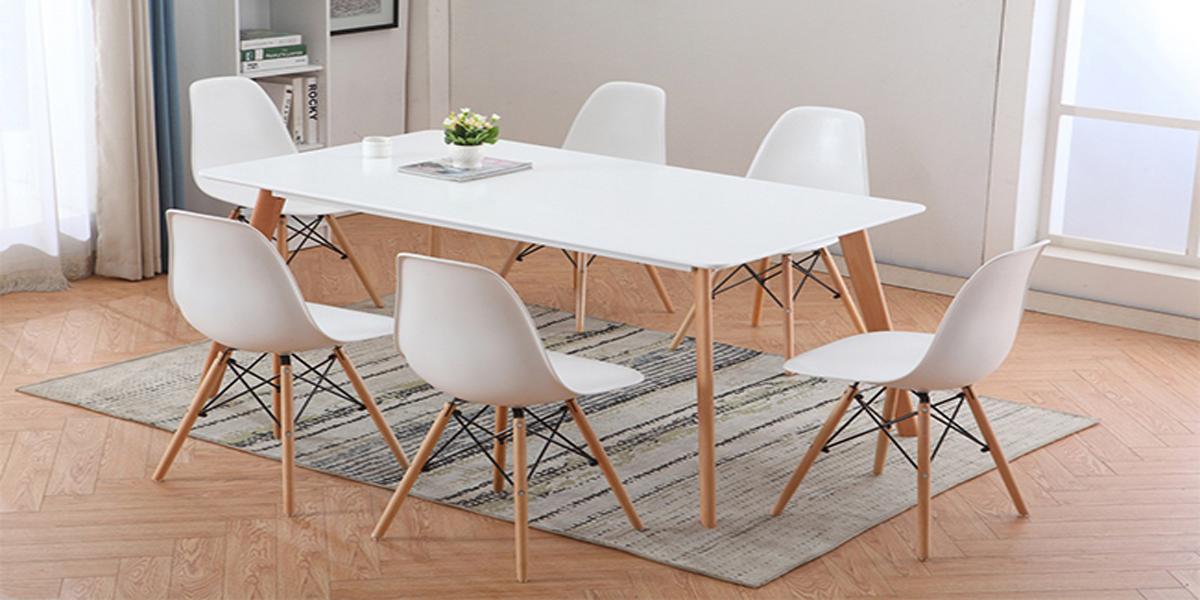 Những bộ bàn ăn 6 ghế giá rẻ dành cho không gian phong cách tối giản