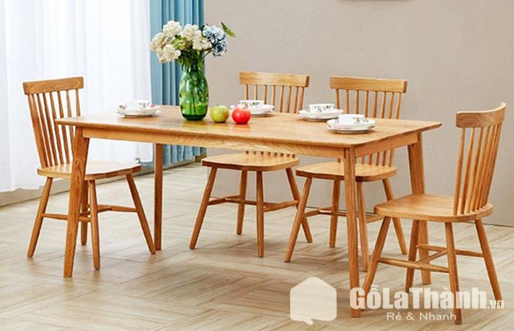 bàn ăn gỗ thiết kế theo phong cách cổ điển
