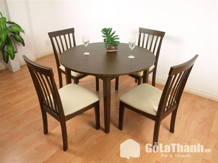 bộ bàn ăn giá rẻ tròn 4 ghế