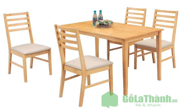 bàn ăn gỗ ghế bọc da