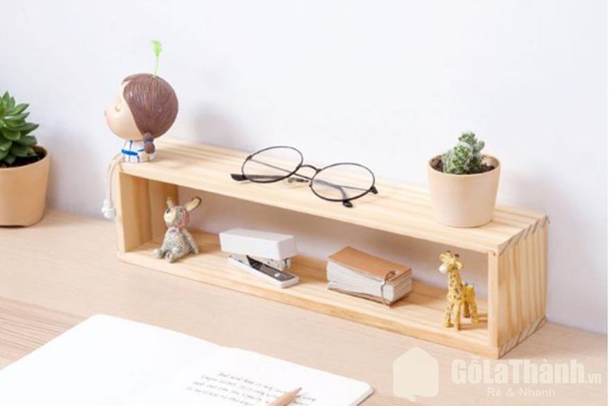 Giá để bàn bằng gỗ nhỏ gọn thiết kế xinh xắn GHT-903