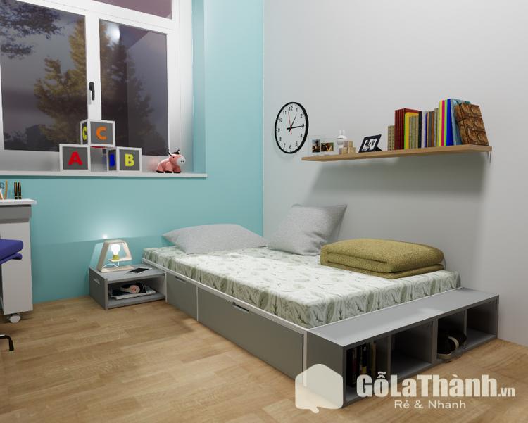 giường ngủ 1 người thiết kế khối hộp