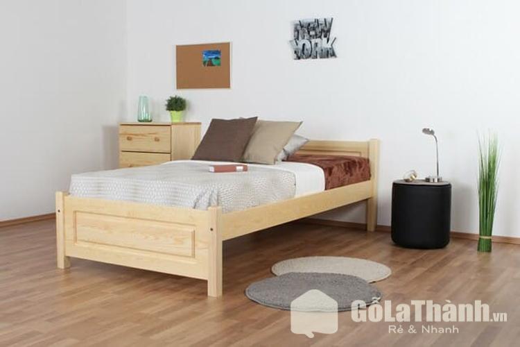 giường đơn 1m2 bằng gỗ tự nhiên