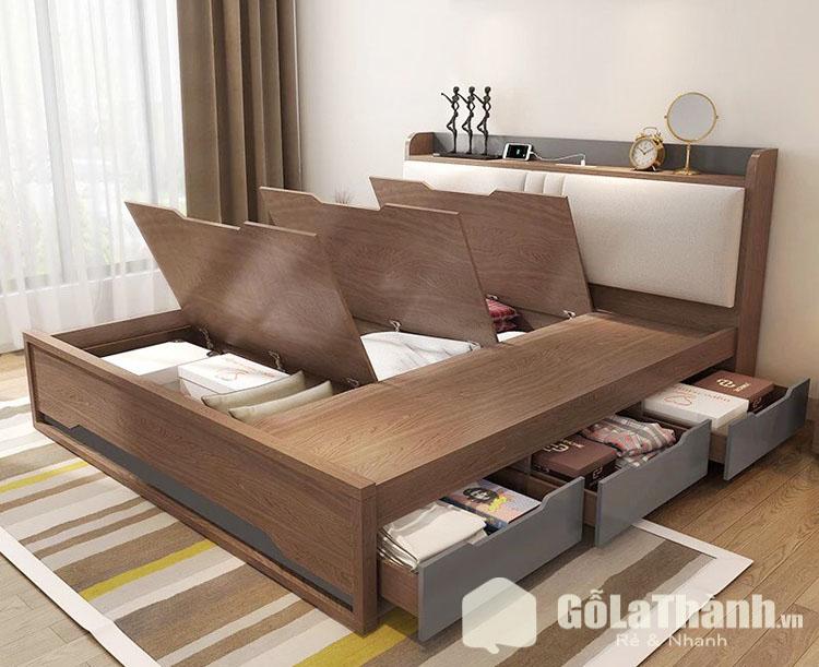 giường có nhiều tủ dưới gầm